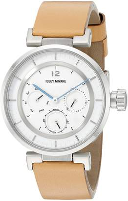 Issey Miyake Women's SILAAB03 W mini Analog Display Quartz Brown Watch