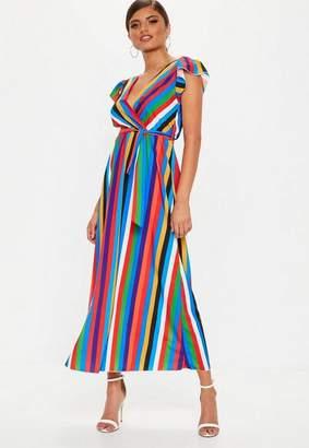 Missguided Multi Stripe Maxi Dress