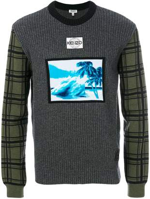 Kenzo Tropical Ice motif sweater