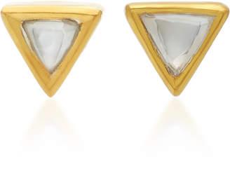 Amrapali Kundan 18K Gold and Diamond Stud Earrings