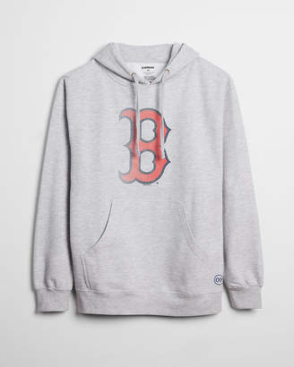 Express Boston Red Sox Graphic Fleece Hoodie