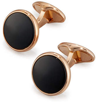 Dunhill Rose Golden Onyx Cuff Links