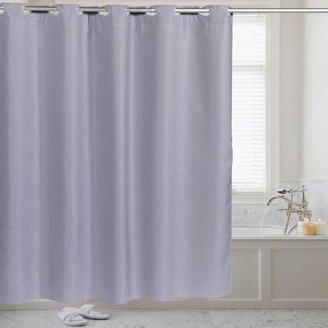 Generic Fabric Shower Curtain Waffle Weave Hookless With Snap Off Liner