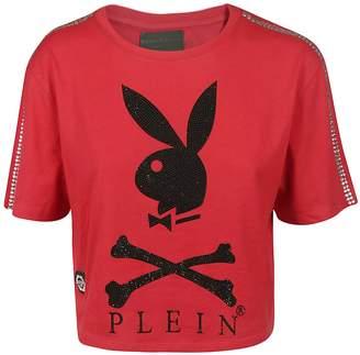 Philipp Plein Embellished Playboy T-shirt