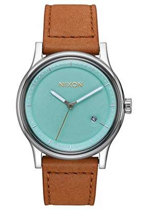 Nixon Mens Analogue Quartz Watch with Leather Strap A1161-2534-00