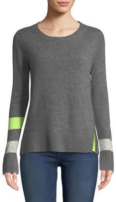 Lisa Todd Sneak Peek Cashmere Sweater w/ Peekaboo Side Zipper, Plus Size