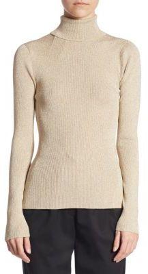 3.1 Phillip Lim Lurex Rib Turtleneck Sweater