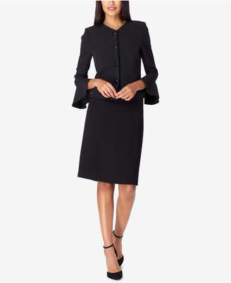 Tahari ASL Bell-Sleeve Skirt Suit