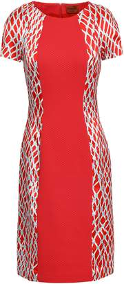 Missoni Printed Satin-paneled Jacquard-knit Dress