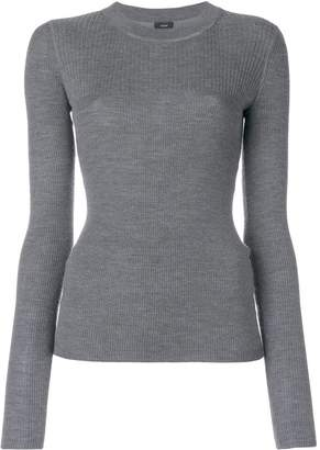 Joseph crew neck ribbed jumper
