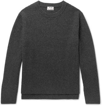 Acne Studios Nicholas Mélange Ribbed Wool Sweater