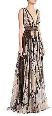 ZUHAIR MURAD Women's Marilyn Butterfly Maxi Dress