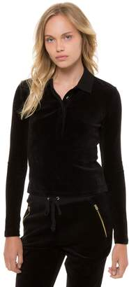 Juicy Couture Stretch Velour L/S Polo