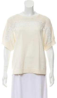 Oscar de la Renta Sequin-Accented Wool Sweater