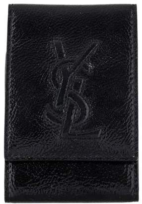 Saint Laurent Patent Leather Compact Mirror