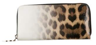 Christian Louboutin Patent Leather Zip Wallet White Patent Leather Zip Wallet