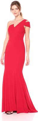 Betsy & Adam Women's Long One Cold Shoulder Dress