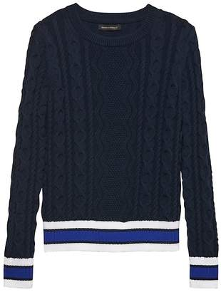 Banana Republic Varsity Cable-Knit Sweater