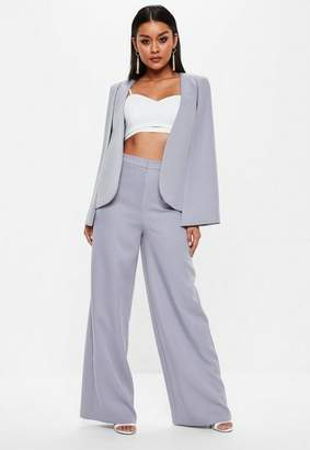 Missguided Lilac Wide Leg Pants
