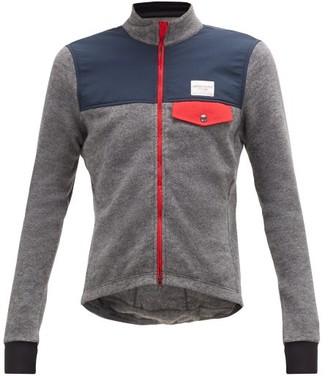 Café Du Cycliste Cafe Du Cycliste - Alphonsine Zip Through Fleece Cycle Jacket - Mens - Grey Multi