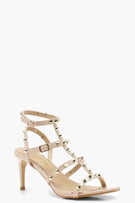Nude Studded Heels - ShopStyle UK cdac067bf709