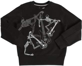 John Galliano Skeleton Printed Cotton Sweatshirt