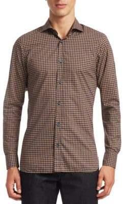 Ermenegildo Zegna Check Woven Cotton Shirt