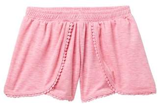 AMERICAN THREADS French Terry Pompom Shorts (Toddler & Little Girls)