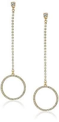 GUESS Women's W Stones Crystal Linear Ear Drop Earrings