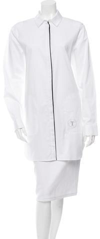 Alexander WangAlexander Wang Long Sleeve Mini Shirtdress