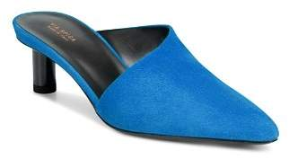 Via Spiga Women's Freya Point-Toe Suede Cylinder-Heel Slide Mules