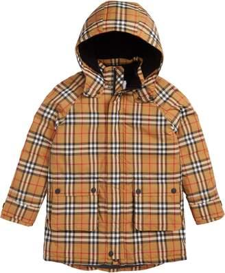 Burberry Check Waterproof Down Puffer Jacket