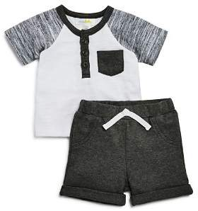 Bloomingdale's Bloomie's Boys' Henley Tee & Shorts Set, Baby - 100% Exclusive