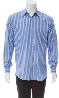 Salvatore Ferragamo Striped Button-Up Shirt