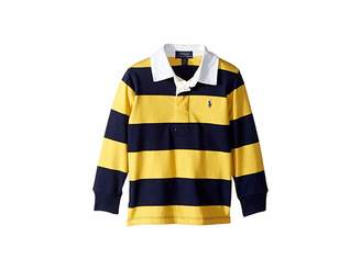 Polo Ralph Lauren Striped Cotton Jersey Rugby (Toddler)