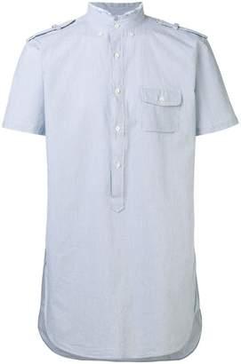 Lardini high frayed neck shirt