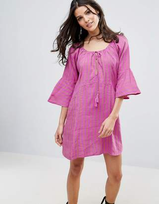 Free People Fol Town Linen Dress