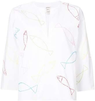 Maison Rabih Kayrouz fish print blouse