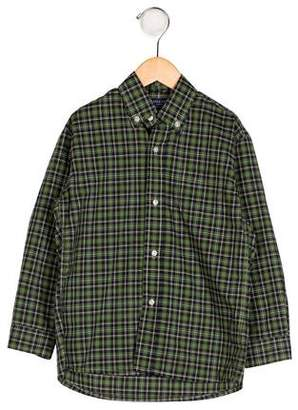 Papo d'Anjo Boys' Tartan Button-Up Shirt