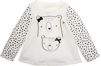 First Impressions Baby Girls Cotton Bears T-Shirt