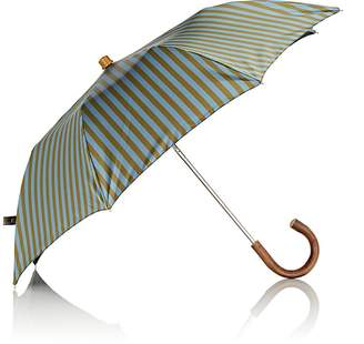 Barneys New York Men's Striped Tech-Twill Folding Umbrella