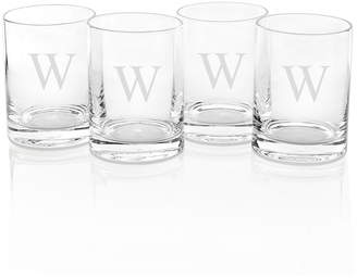 Cathy's Concepts Cathys Concepts Set Of Four Personalized Drinking Glasses