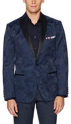 Paisley & Gray Men's Slim Fit Notch Lapel Flocked Dinner Jacket