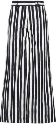 Martin Grant striped palazzo trousers