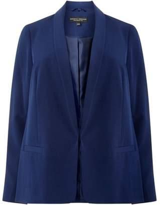 Dorothy Perkins Womens **Dp Curve Navy Notch Sleeve Blazer