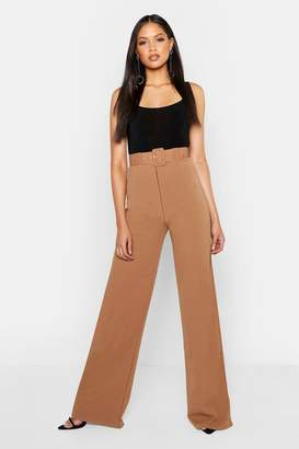 2f00176df0 boohoo Brown Wide Leg Trousers For Women - ShopStyle Canada