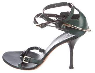Gucci Leather Ankle Strap Sandals