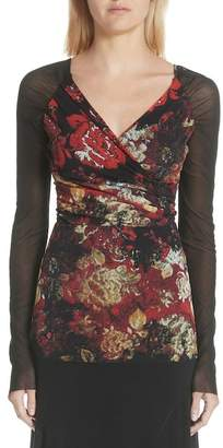 Fuzzi Floral Print Tulle Top (Nordstrom Exclusive)
