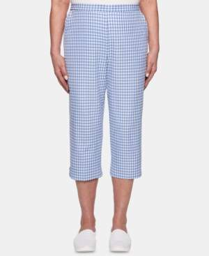 Alfred Dunner Petite The Summer Wind Cotton Capri Pants