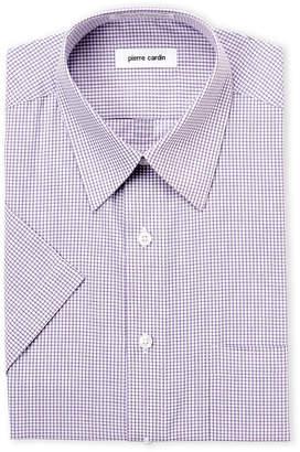 Pierre Cardin Lavender Check Short Sleeve Dress Shirt